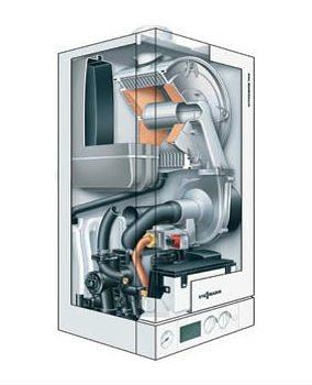 Viessmann VITODENS 100-W nuo 47 iki 350 kW katilo vidaus schema