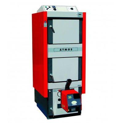 Atmos DC32SP tinka kūrenti malkomis ir medienos granulėmis, be granulių degiklio 6-35 kW