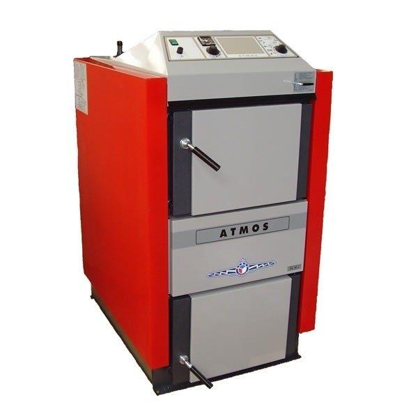 Atmos DC22S plieninis dujų generacinis kieto kuro katilas 15 - 22 kW