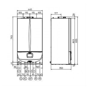 Dujinio kondensacinio katilo Immergas Victrix Zeus Superior 26 2 ErP schema