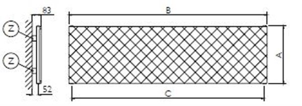 Deltacalor Quilt Orizzontale radiatorius.. MAtmenų aiškinimas