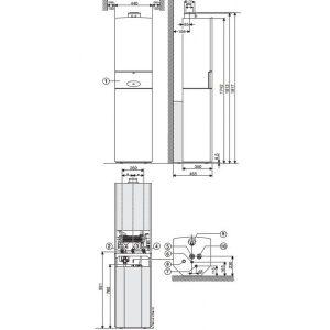 Junkers CerapurMODUL-Smart ZBS 22/75 S-3 SE vandens šildytuvas tūrinis 75 ltr