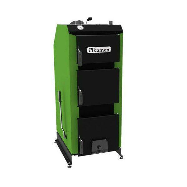 Plieninis kieto kuro katilas Kamen WG Premium 10 kW su elektr valdikliu