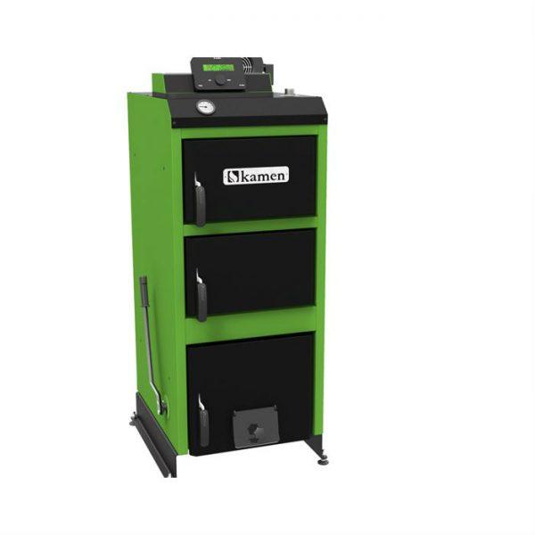 Plieninis kieto kuro katilas Kamen WG Premium 28 kW su el. valdikliu ST-81 ir ventiliatoriumi