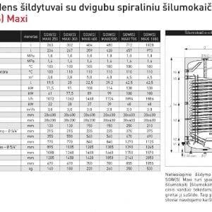 Galmet SGW(S) MAXI vandens šildytuvas šilumos siurbliams 200l